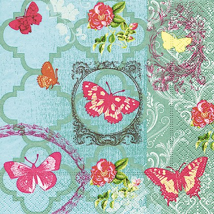 Салфетки для декупажа Paper+Design Сад бабочек, 33x33см, 20шт 200041