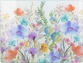 Доска разделочная стеклянная Creative Tops Цветочный луг, 40x30см C000340