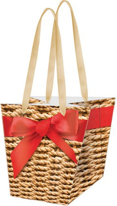 Пакет подарочный бумажный Paw Корзиночка 20x19x14.5см AGB000720