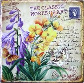 Подставки под горячее Art Atelier Бабочки в цветах, 20x20см, керамика ART2490-TA