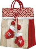 Пакет подарочный бумажный Paw Зимние варежки 26.5x33.5x13см AGB028505