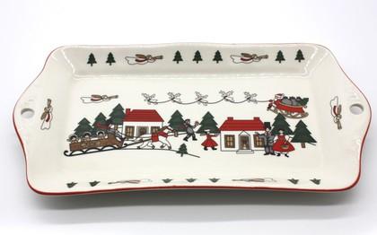 Поднос для сэндвичей Masons Рождественская деревенька, 31х16см 56533506611