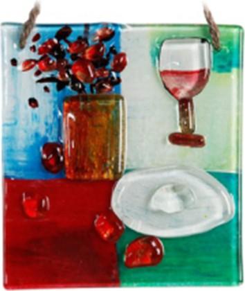 Миниатюра стеклянная Ин вино веритас 15x15см Top Art Studio LG1238-TA