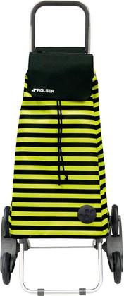 Сумка-тележка хозяйственная чёрно-жёлтая Rolser RD6 MOUNTAIN MOU088negro/lima