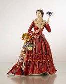 Статуэтка Девушка с масками, фарфор, 22см English Ladies ELGELS01601