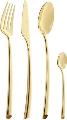 Набор столовых приборов Cutipol Mezzo Gold, 24 предмета, золото 9301
