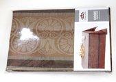 Скатерть Эллада 155x200 коричневая Белорусский лён 16c416/155x200/30/4