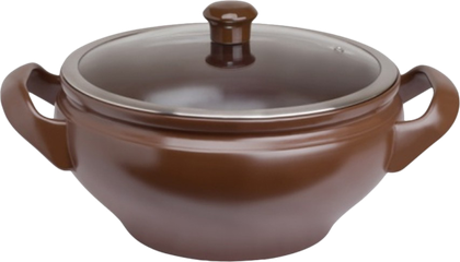Кастрюля керамическая, шоколад, стеклянная крышка, 16см 3.4л Ceraflame TERRINE C913545