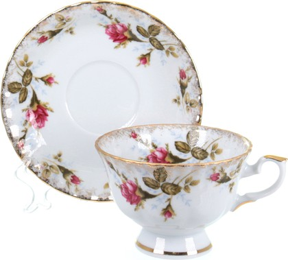 Чайная пара Porcelaine Czech Gold Hands Шиповник, низкая, 220мл IWB013S220NС…1