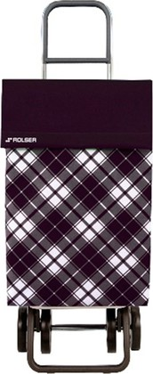 Сумка-тележка хозяйственная чёрная Rolser DOS+2 JEA022negro