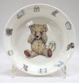 Тарелка глубокая для мальчика Время с Тедди, 16см Roy Kirkham XTED1391