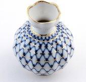 Ваза для цветов Кобальтовая сетка, ф. Тюльпан ИФЗ 80.04257.00.1