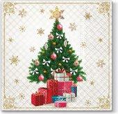 Салфетки для декупажа Paw Новогодняя ёлка с подарками, 33x33см, 20шт. TL645000