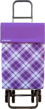 Сумка-тележка хозяйственная фиолетовая Rolser DOS+2 JEA022malva