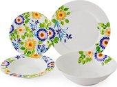 Сервиз столовый Fade Servizio Tavola Jolie, тарелки и салатник, 19 предметов 51037