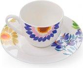 Сервиз кофейный Fade Servizio Caffe Jolie, чашки с блюдцами, 80мл, 6 персон 51038