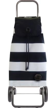Сумка-тележка хозяйственная чёрно-белая Rolser Convert RG IMX105blanco/negro