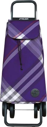 Сумка-тележка хозяйственная фиолетовая Rolser DOS+2 MOUNTAIN MOU074more