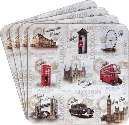 Подставки под стакан Lesser & Pavey Новый Лондон, 4шт, 11x11см LP41345