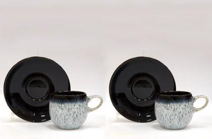 Набор 2 кофейные пары Эспрессо 125мл, Сияние Denby Halo 199040012