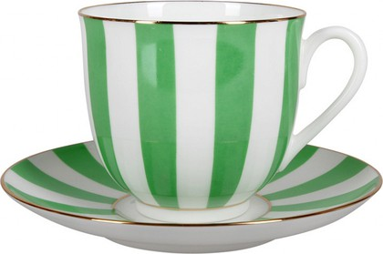 Чашка с блюдцем Ландыш-2 Да и нет, салатовый ИФЗ 81.25353.00.5