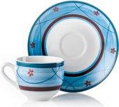 Сервиз кофейный Fade Blue Servizio Caffe Jardin, чашки с блюдцами, 100мл, 6 персон 52194