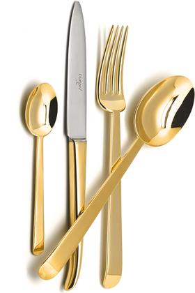 Набор столовых приборов Cutipol Ergo Gold, 24 предмета, золото 9121