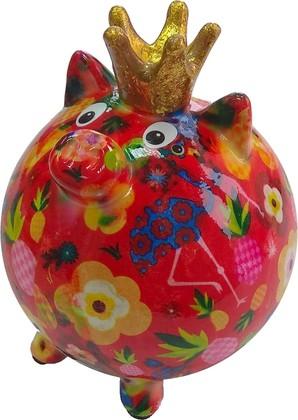 Копилка для денег Pomme-Pidou Хрюшка мини, красный 9x9x11см 148-00408/B