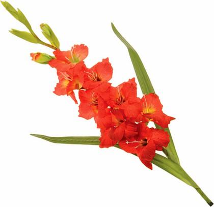 """Floralsilk Искусственные цветы """"Гладиолус красный"""", длина 101см, артикул 11193RED"""