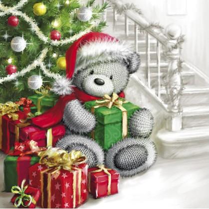 Салфетки Медведь с подарками 3-сл., 20шт 33x33см Paw TL644000