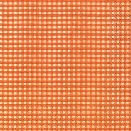 Салфетки для декупажа Оранжевая клетка, 33x33см, 3 слоя, 20шт Paper+Design 21060