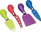 Набор ножей для сыра KitchenCraft Colourworks Brights, 4пр CWCHEESESET