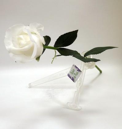 Цветок искусственный Atelier de Fleur Роза Алба белая 45см WAF1147-TA