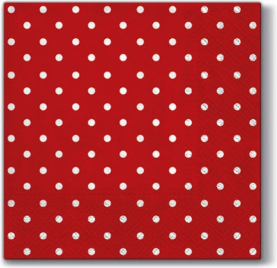 Салфетки Горох красный, 33x33, 20шт Paw SDL066023