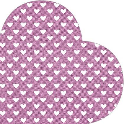 Салфетки Сердце розовые d32см, 3-сл., 12шт. Paw SDH089700