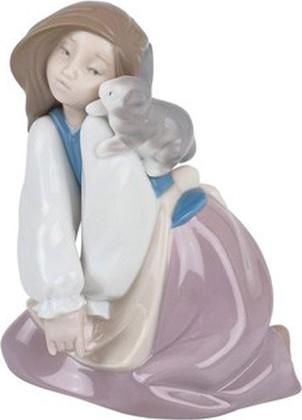 Статуэтка фарфоровая NAO Поиграй со мной! (Bunny's Best Friend) 13см 02001466