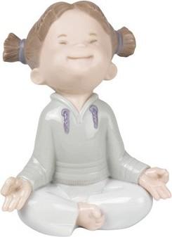 Статуэтка фарфоровая Это так делается? (Mini Meditation) 10см NAO 02001551