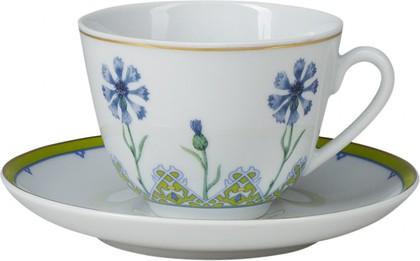 Чашка с блюдцем чайная Небесно-голубой василек, ф. Весенняя ИФЗ 81.26191.00.1