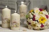Свеча декоративная Bartek Candles Свадебная колонна 70x150 5901685040310