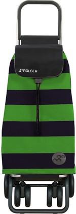 Сумка-тележка хозяйственная чёрно-зелёная Rolser LOGIC TOUR PAC045verde/negro