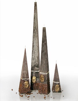 "Свеча ""Капучино"" пирамида 8х8х49cм Bartek Candles 5902989576963"