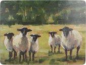 Подставки под тарелки на стол Creative Tops Овцы на пастбище 30x23см, 6шт, пробка C000282