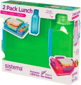 Набор контейнер и бутылка Sistema Lunch, 475мл 1597