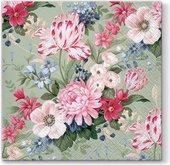 Салфетки для декупажа Paw Спокойные цветы, 33x33см, 20шт SDL055500