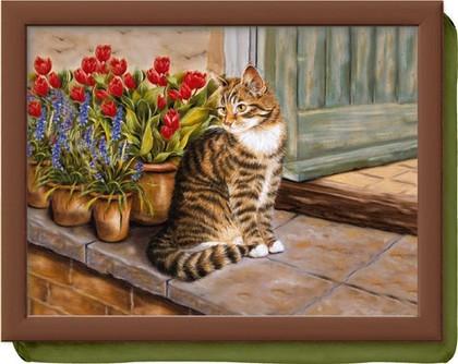 Поднос с подушкой Домашний кот Creative Tops LT1491
