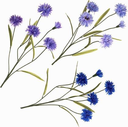 """Floralsilk Искусственные цветы """"Василёк"""", разные оттенки, артикул 11084ASS"""