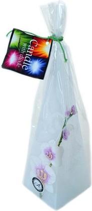 "Свеча ""Орхидея"" с подсветкой, пирамида 7х24см Bartek Candles 186031"