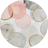 Подставки под тарелки на стол Creative Tops Небесные сферы d29см, 4шт, пробка C000280