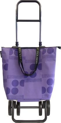 Сумка-тележка Rolser Logos Mini Bag, 4 колеса, складная, фиолетовая MNB019malva