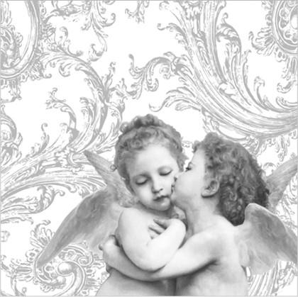 Салфетки Ангелы ренессанса серебро, 33x33см, 3 слоя, 20шт Paw SDL001708